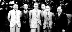 Members of the North Manchurian railroad negotiations Chiune at the Foreign Office in Manchuria (second from left) (April 27, 1934 )