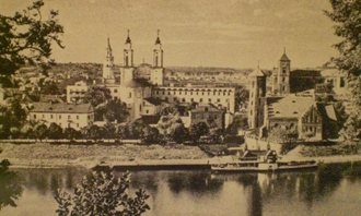 A view of Kaunas, the capital of Lithuania at the time the Japanese consulate was there.